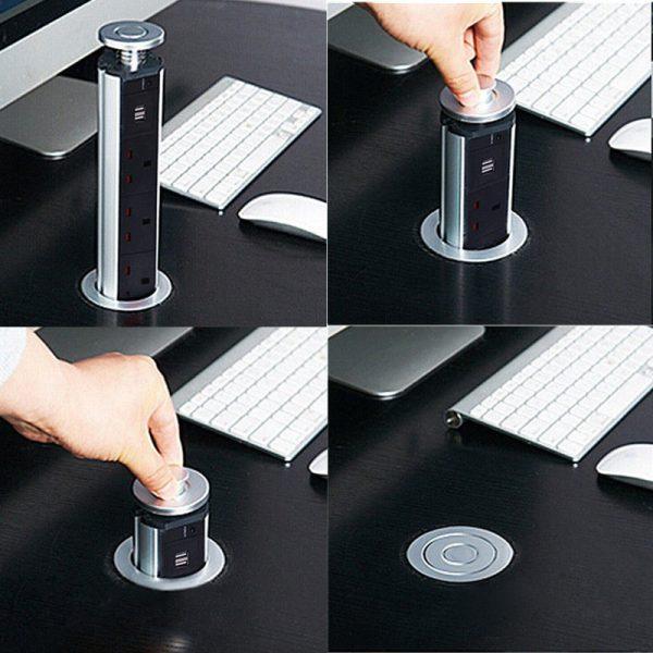 מפצל עם 3 שקעים +USB