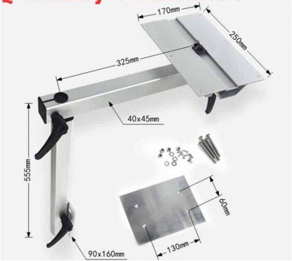 בסיס שולחן מתכוונן לאגון